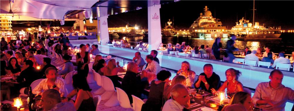 Lio restaurante cabaret puerto deportivo marina ibiza - Restaurantes en el puerto de ibiza ...